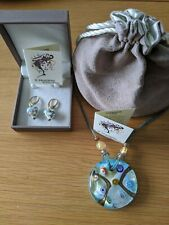Il Murano di Francesca Glass Pendant & Earings  Boxed and with Pouch