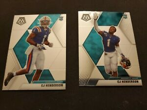 2020 Panini Mosaic CJ Henderson SSP Prizm Variation and Base Jaguars Lot of 2 RC