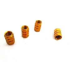 4pcs Gold Wheel Tyre Tire Valve Stems Air Dust Cover Screw Cap Volkswagen Golf R