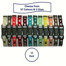 12 Handmade Puppy ID Whelping Collars; Choice of Colours; 3 Sizes