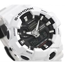 CASIO G-SHOCK, GA700-7A GA-700-7A, ANALOG DIGITAL, WHITE x BLACK MATTE, BIG CASE