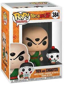 Funko POP #384 Dragon Ball Z Tien and Chiaotzu Figure Brand New In Stock Bad Box