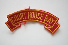 #6705 COURT HOUSE BAY Word Tag Embroidery Sew On Applique Patch