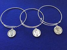 New! Archangel Michael/Saint Michael Bangle Bracelet w/ Prayer on Back