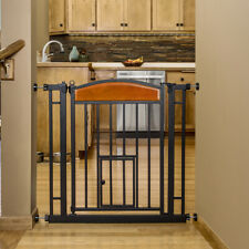 Carlson Pet Products Design Paw Auto Close Walk Through Indoor Pet Gate, Steel