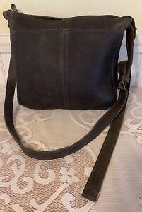 DULUTH TRADING COMPANY Women's Black Pebble Leather Medium Crossbody Purse Bag