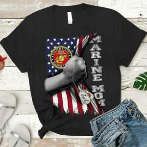 Marine Mom T Shirt, Veteran Day Women Shirt, Gift For Mom Grandma Shirt S-5XL