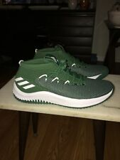 New Adidas Dame 4 Lillard Green White Men's Basketball Shoes Size 14 B76016