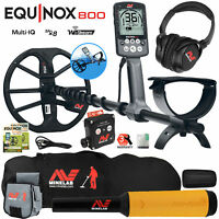 Minelab EQUINOX 800 Metal Detector w/ Pro Find 15, Carry Bag, Finds Pouch
