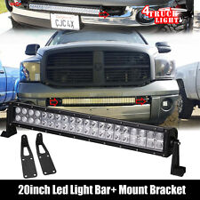"20"" LED Light Bar Hidden Bumper Mount bracket For 03-16 Dodge Ram 2500/3500"