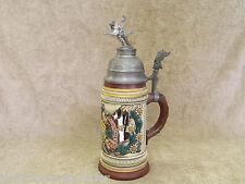 Vintage Thewalt German Beer Stein Military Theme 1274