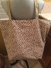 New HANDMADE Large COFFEE BEAN Bag/Tote/Purse/Handbag Sturdy 100% Cotton