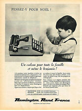 PUBLICITE ADVERTISING 124  1961  REMINGTON RAND  machine à écrire