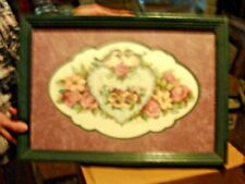 Picture frame love birds and heart with roses