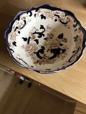 masons blue mandalay large round centre bowl