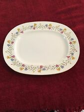 Minton Platter Hand Painted  Flowers ~14 3/4 Inches Across By 11 3/4 1930-50's