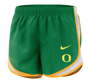 "Nike Oregon Ducks Tempo Women's 3"" Green Running Shorts Size Medium Large"
