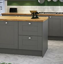 Shaker Kitchen 2 Drawer Unit 600mm Wiltshire Style Painted Farrow & Ball