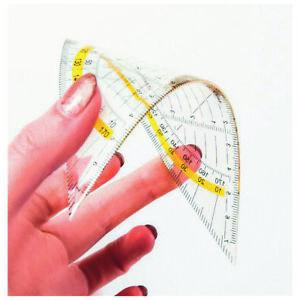 Geometriedreieck biegsam 16 cm Geodreieck Transparent  Lineal 48737