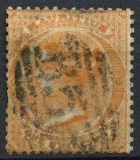 Mauritius QV 1863-72 SG#70w, 1s Orange Wmk CC Inverted Used#D10468