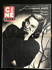 Ciné Revue 5/01/1951; Michèle Morgan/ Warner Bros transport/ Errol Flynn