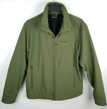Marmot Mens L Green Olive Eastside Softshell Fleece Lined Lightweight Jacket