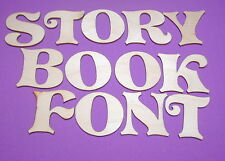 STORY BOOK FONT LETTERS Unfinish Wood Shapes 4SBF630C