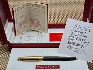 Pasha de Cartier Fountain Pen. 1988 Vintage.