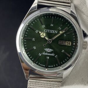 Vintage Citizen Automatic Cal. 8200 Day-Date Men's Wrist Watch Green Dial CT111
