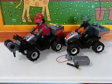 PLAYMOBIL X2  QUADS QUAD CUATRICICLO GUARDAMONTES GUARDABOSQUES MOTO MOTOS
