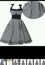 Rockabilly/retro/swing/fun dance party halter dress. Black/white hearts. New
