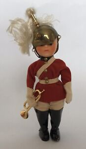 """Antique Cavalry Lifeguard  Bugler with Trumpet No. 1090 6""""doll In Box"""