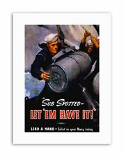 WAR WWII US NAVY SUBMARINE TNT BOMB SAILOR MILITARY NEW Poster Picture Military