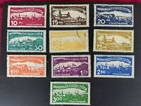 Württemberg 1920 Government service, 10 values, complete series, Mi.272-281,used