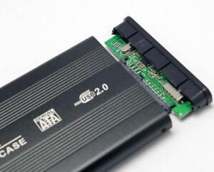 "2.5"" Hard Drive SATA USB2.0 Caddy Enclosure Aluminum Case Laptop HDD SSD SSHD OZ"