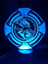 More details for elo electric light orchestra acrylic engraved led clock night light