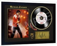Michael Jackson Thriller SIGNED FRAMED PHOTO PRINT AND Mini LP Perfect Gift