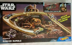 Hot Wheels Character Cars Star Wars Rancor Rumble Track Set New in Box