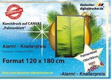 Palmenblatt - Kunstdruck auf CANVAS Fine Art - 120 x 180 cm