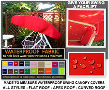Made to Measure Waterproof Swing Canopy Cover - All styles  FLAT - APEX - CURVED