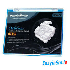 Dental Ceramic Orthodontic Brackets Easyinsmile Self Ligating 0022 Rothmbt 345