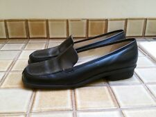 Ann Taylor Classic Black Leather Loafers, Size 9,5 M EUC