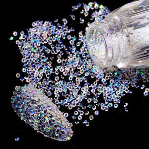 5000PCS AB Nail Rhinestone Crystal 1.2mm 3D Micro Glass DIY Glitter Nails Art