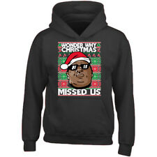 WONDER WHY CHRISTMAS MISS UNISEX HOODIE Xmas Sweatshirt Ugly Christmas Sweater