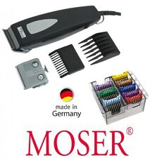 Moser Profi Tier Schermaschine 1234, zwei Scherköpfe + 8 top Metallaufsteckämme