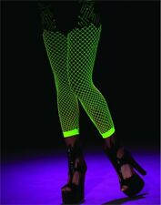 Adult Sexy Green UV Blacklight Reactive Fishnet Costume Stockings
