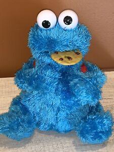 Sesame Street Count n Crunch Cookie Monster 3 Cookies Talking Plush 🍪 2010 READ