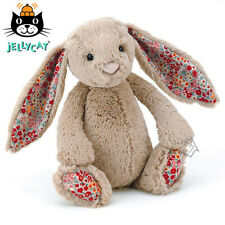 JELLYCAT Blossom Bashful Bunny Rabbit teddy bear toy Medium 31cm Beige Floral
