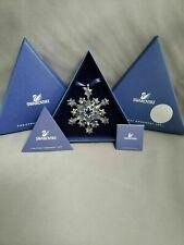2004 Swarovski Snowflake Annual Christmas Ornament Complete *Mint*New*