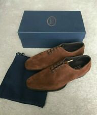 "George Cleverley ""Merlin"" Wholecut Suede Oxford Shoes - UK 7 - Brown - Kingsman"